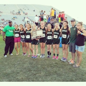 2014 Girl Track Champs with coaches